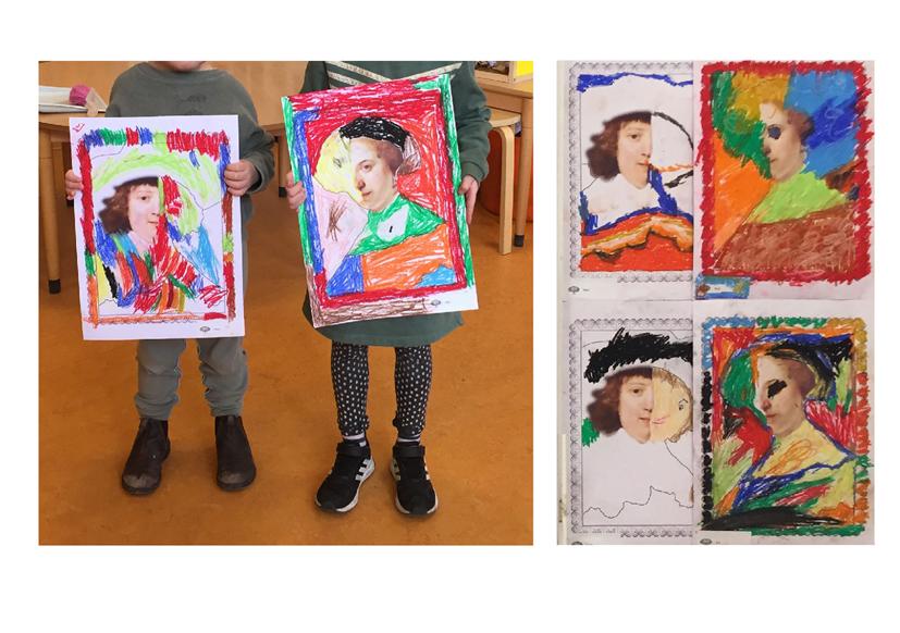 2-Rembrandt kuns in de klas Agatha Snellen