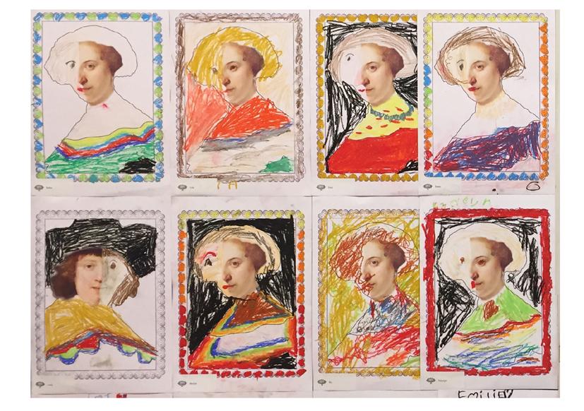 4-Rembrandt kuns in de klas Agatha Snellen