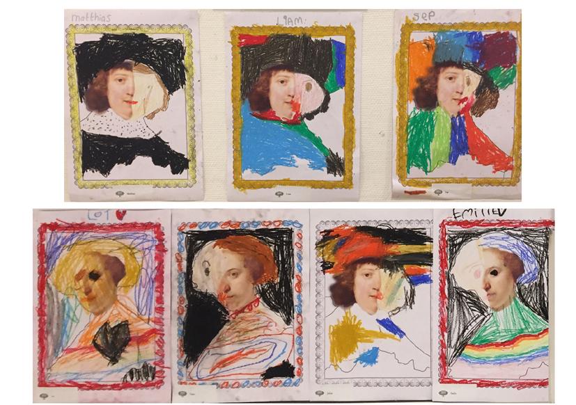 5-Rembrandt kuns in de klas Agatha Snellen