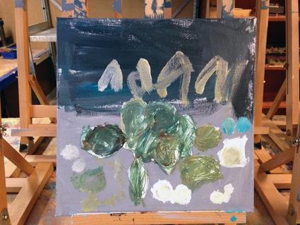 Adam-kunst in de klas Agatha Snellen