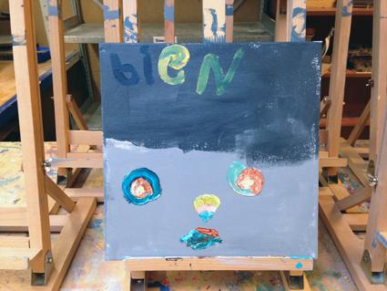 Bien kunst in de klas Agatha Snellen