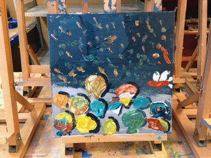 Boris kunst in de klas Agatha Snellen