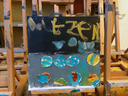 Doutzen kunst in de klas Agatha Snellen