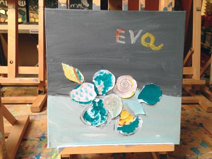 Eva kunst in de klas Agatha Snellen