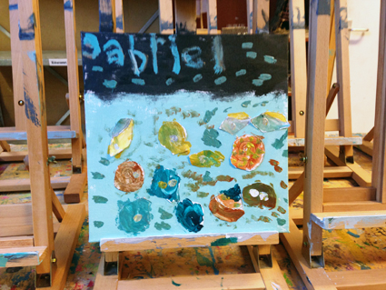 Gabriel kunst in de klas Agatha Snellen