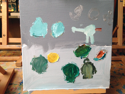 Jorik kunst in de klas Agatha Snellen