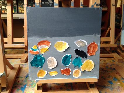 MarieSophie kunst in de klas Agatha Snellen