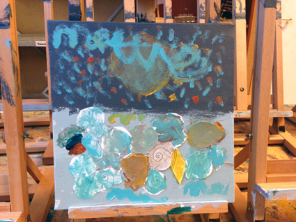 Mette kunst in de klas Agatha Snellen