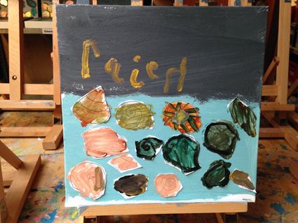 Rajen kunst in de klas Agatha Snellen