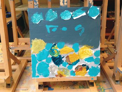 Roos kunst in de klas Agatha Snellen