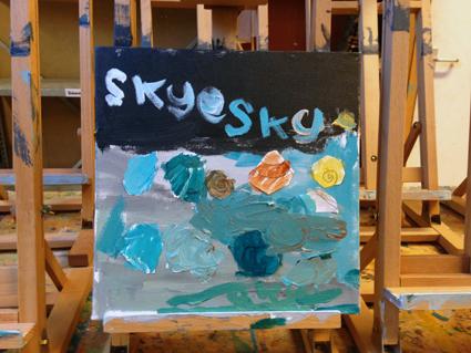 Skye kunst in de klas Agatha Snellen