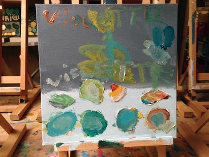 Violette kunst in de klas Agatha Snellen